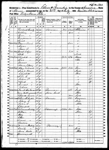 1860 Census - Collins McArdle Family