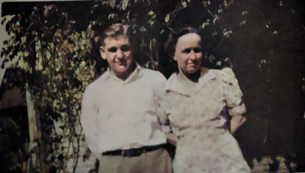Robert and his mother Leah Longstreth SniderAC
