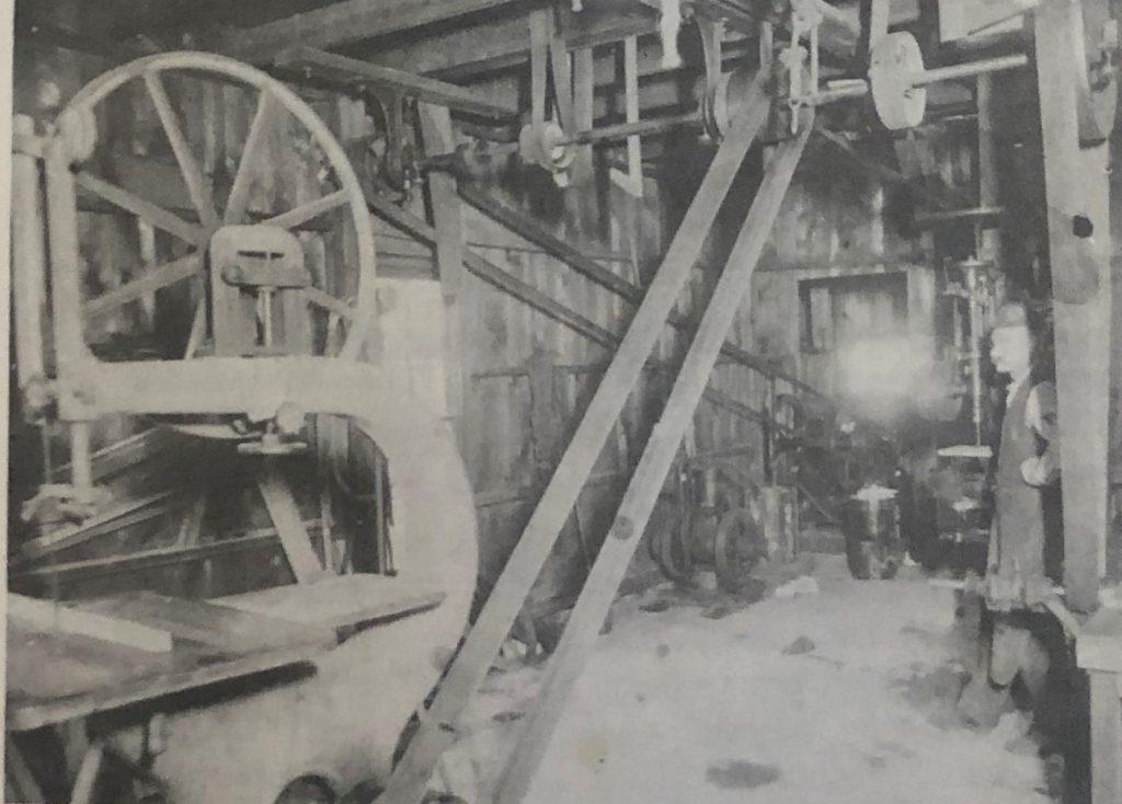 Brad Neal inside Blacksmith Shop