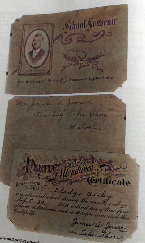 School Awards Lake Shore 1914 and 1916