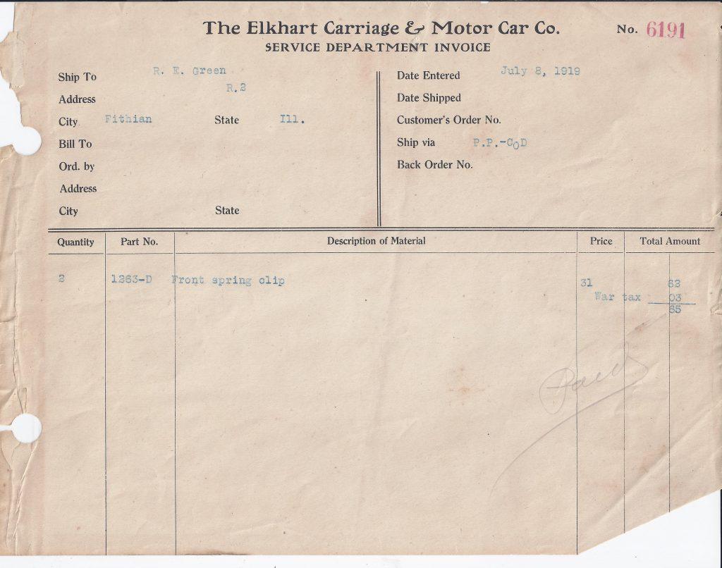 Elkhart Carriage Bill